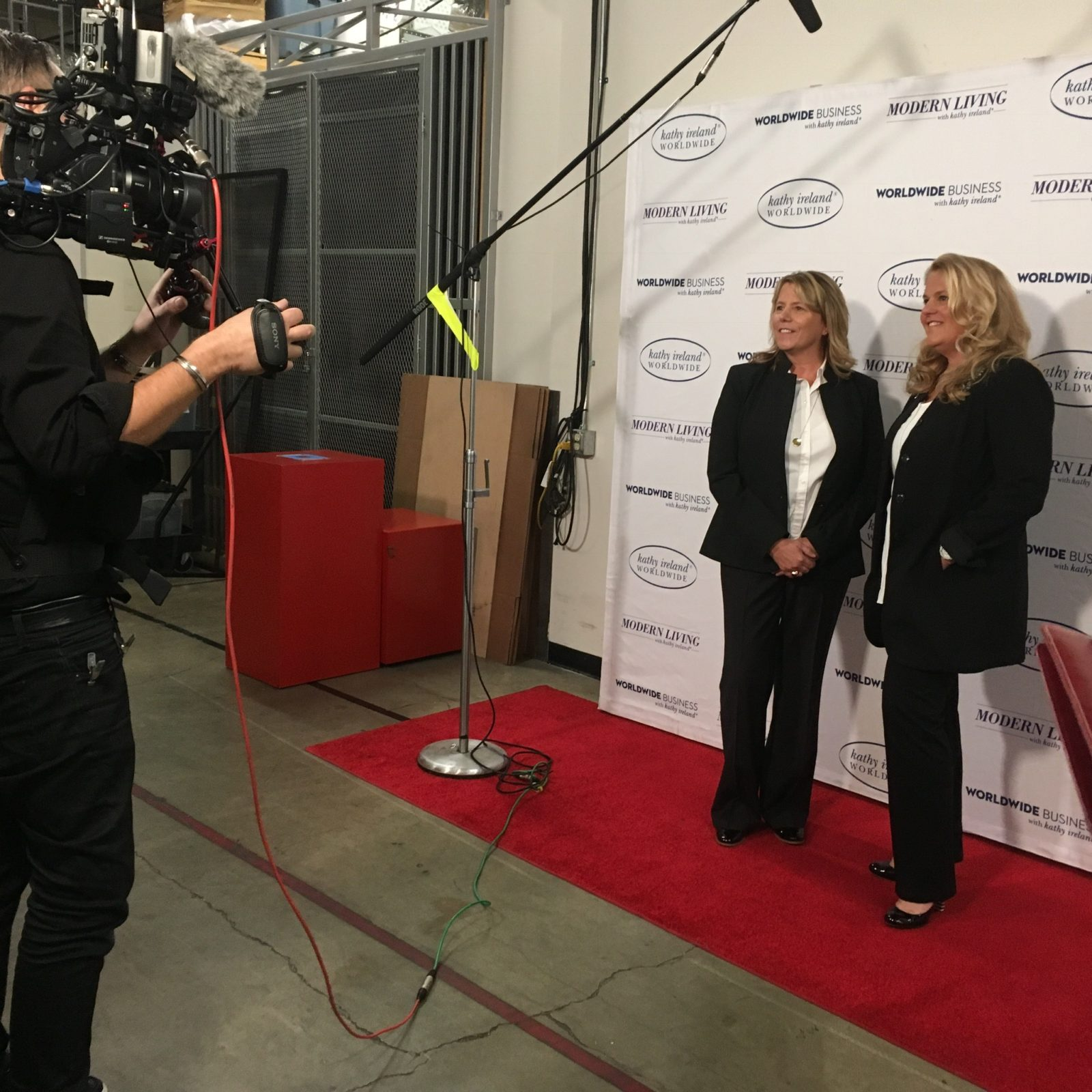 Nancy and Pat Red Carpet with Camera